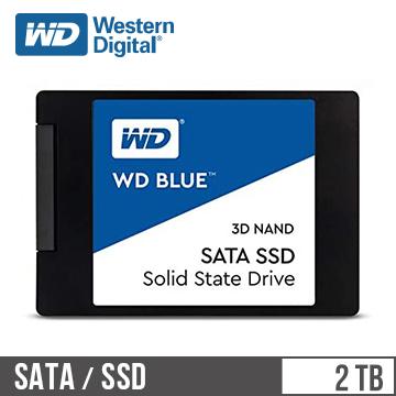 "WD SSD Blue系列-2.5""2TB固態硬碟(3D TLC)"