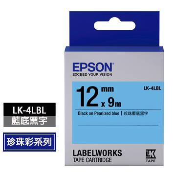 EPSON LK-4LBL藍底黑字標籤帶 C53S654420