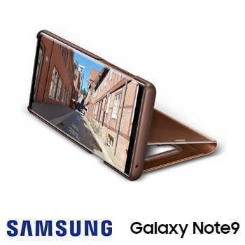 SAMSUNG Galaxy Note9 全透視感應皮套(立架式) - 棕色