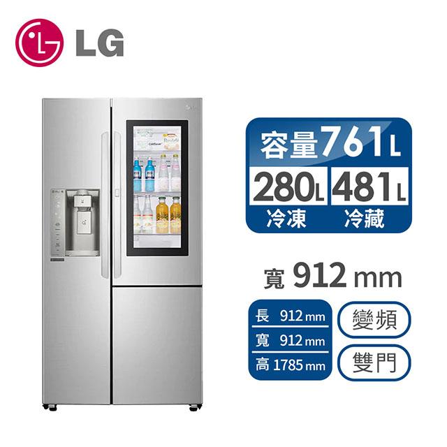 LG 761公升敲敲看門中門冰箱