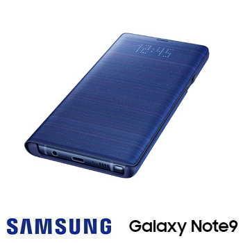 SAMSUNG Galaxy Note9 原廠LED皮革翻頁式皮套 - 藍色
