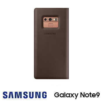 SAMSUNG Galaxy Note9 原廠經典真皮革皮套 - 棕色