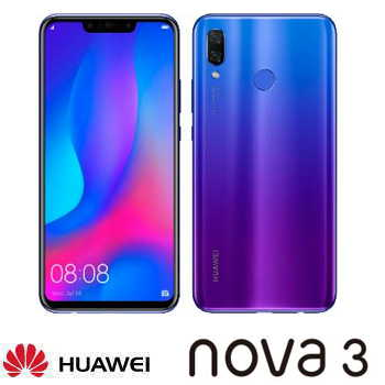 【6G / 128G】Huawei 華為 Nova 3 6.3吋智慧型手機 - 藍楹紫