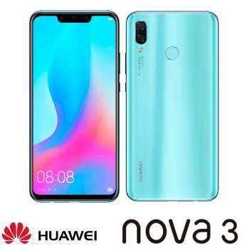 【6G / 128G】Huawei 華為 Nova 3 6.3吋智慧型手機 - 淺艾藍 Nova 3藍