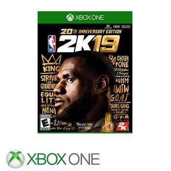 【20週年紀念版】XBOX ONE NBA 2K19 - 中英文版
