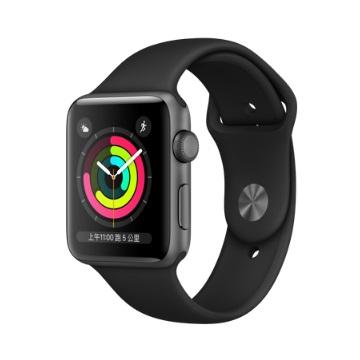 【GPS版 42mm】Apple Watch S3/太空灰鋁/黑運動錶帶 MTF32TA/A