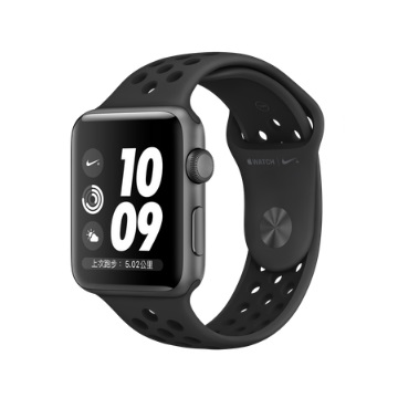 【GPS版 42mm】Apple Watch S3 Nike+/太空灰鋁/黑底黑洞錶帶