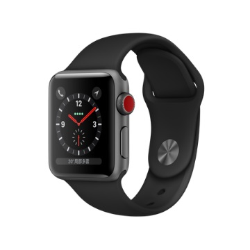 【LTE版 38mm】Apple Watch S3/太空灰鋁/黑運動錶帶 MTGP2TA/A
