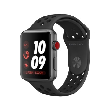 【LTE版 42mm】Apple Watch S3 Nike+/太空灰鋁/黑底黑洞錶帶 MTH42TA/A