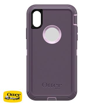 【iPhone XS】OtterBox Defender防摔殼 - 紫色 77-59465