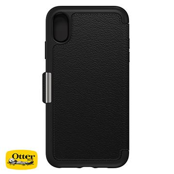 【iPhone XS Max】OtterBox Strada真皮殼 - 黑色