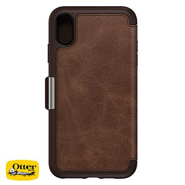 【iPhone XS Max】OtterBox Strada真皮殼 - 咖啡色