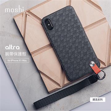 【iPhone XS Max】Moshi Altra 腕帶背殼 - 黑色