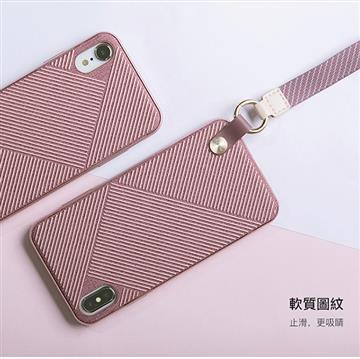 【iPhone XS Max】Moshi Altra 腕帶背殼 - 粉色