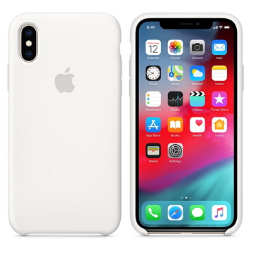iPhone XS 矽膠保護殼-白色