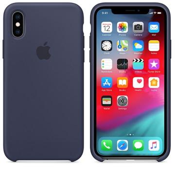 iPhone XS 矽膠保護殼-午夜藍色