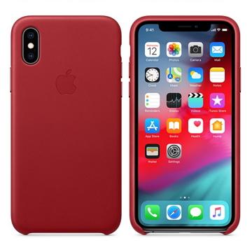 iPhone XS 皮革保護殼-紅色(PRODUCT)