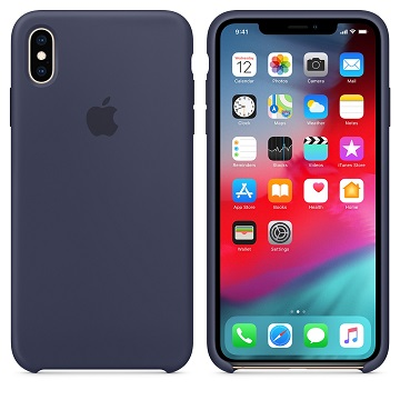 iPhone XS Max 矽膠保護殼-午夜藍色