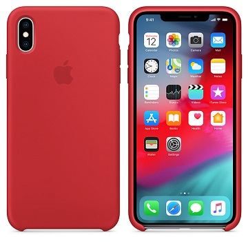 iPhone XS Max 矽膠保護殼-紅色(PRODUCT) MRWH2FE/A