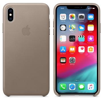 iPhone XS Max 皮革保護殼-淡褐色