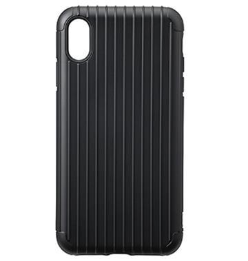 【iPhone XS Max】Gramas Rib經典行李箱手機殼 - 黑色