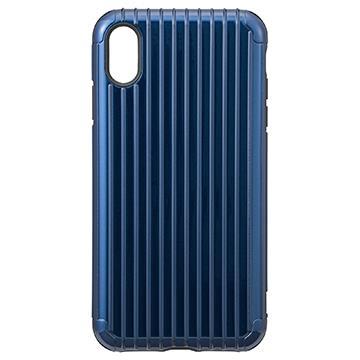 【iPhone XS Max】Gramas Rib經典行李箱手機殼 - 藍色