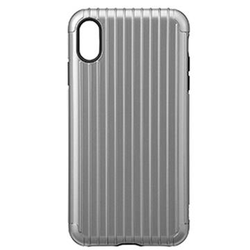【iPhone XS Max】Gramas Rib經典行李箱手機殼 - 灰色