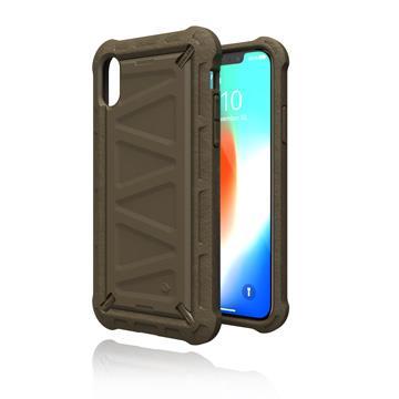 【iPhone XS】JTLEGEND 捍衛者保護殼 - 沙漠棕