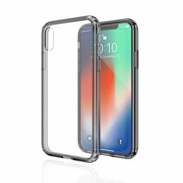 【iPhone XS Max】JTLEGEND 雙料減震保護殼 - 透黑
