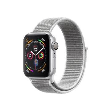 【GPS版40mm】Apple Watch S4/銀鋁/貝殼白運動錶環