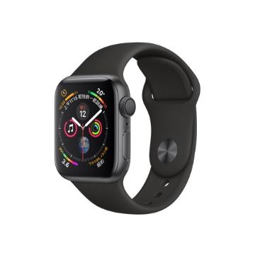 【GPS版40mm】Apple Watch S4/灰鋁/黑運動錶帶