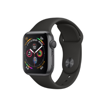 【GPS版40mm】Apple Watch S4/灰鋁/黑運動錶帶 MU662TA/A