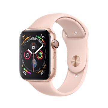 【GPS版44mm】Apple Watch S4/金鋁/粉沙色運動錶帶