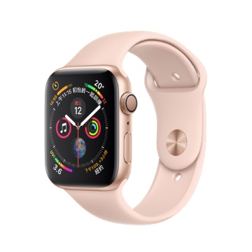 【GPS版44mm】Apple Watch S4/金鋁/粉沙色運動錶帶 MU6F2TA/A