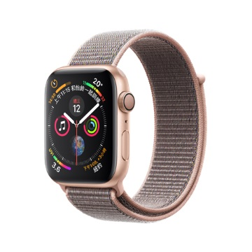 【GPS版44mm】Apple Watch S4/金鋁/粉沙色運動錶環