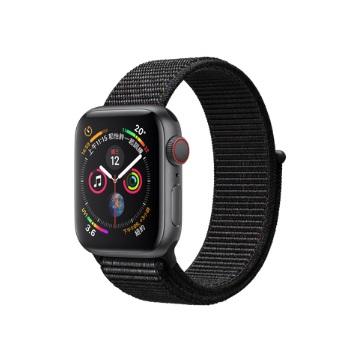 【LTE版40mm】Apple Watch S4/灰鋁/黑運動錶環