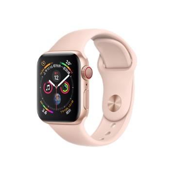 【LTE版40mm】Apple Watch S4/金鋁/粉沙色運動錶帶