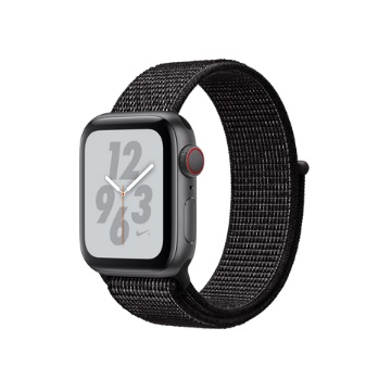 【LTE版 Nike+ 40mm】Apple Watch S4/灰鋁/黑運動錶環