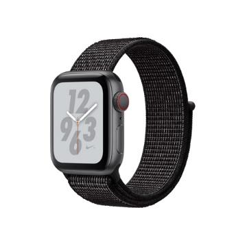 【LTE版 Nike+ 40mm】Apple Watch S4/灰鋁/黑運動錶環