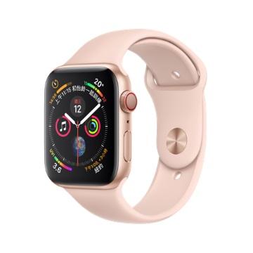 【LTE版44mm】Apple Watch S4/金鋁/粉沙色運動錶帶