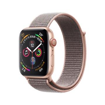 【LTE版44mm】Apple Watch S4/金鋁/粉沙色運動錶環
