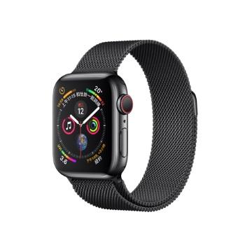 【LTE版40mm】Apple Watch智慧手錶 S4/太空黑不鏽鋼/太空黑米蘭錶環