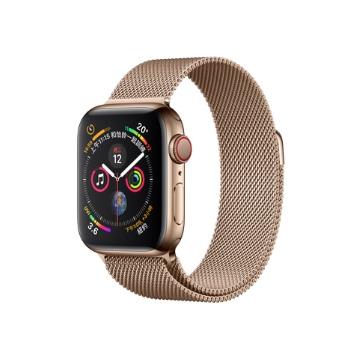 【LTE版40mm】Apple Watch 智慧手錶 S4/金不鏽鋼/金米蘭錶環