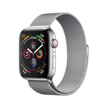 【LTE版44mm】Apple Watch S4/不鏽鋼/米蘭錶環