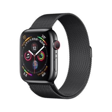 【LTE版44mm】Apple Watch S4/太空黑不鏽鋼/太空黑米蘭錶環