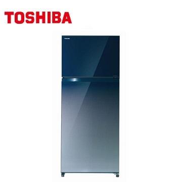 TOSHIBA 510公升雙門無邊框玻璃變頻冰箱