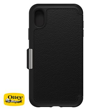 【iPhone XR】OtterBox Strada真皮防摔殼 - 黑色