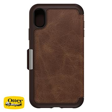 【iPhone XR】OtterBox Strada真皮防摔殼 - 咖啡色