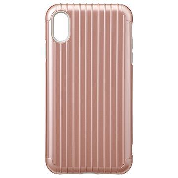 【iPhone XR】Gramas Rib經典行李箱手機殼 - 玫瑰金