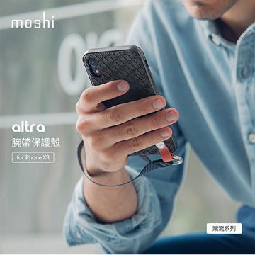 【iPhone XR】Moshi Altra 腕帶保護背殼 - 黑色